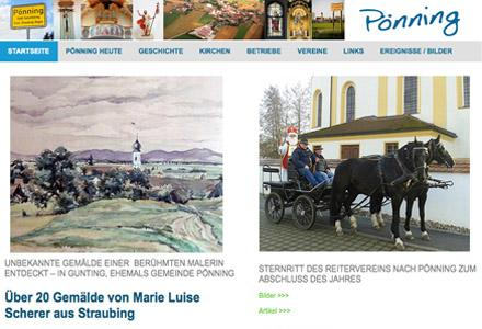 Pönning Homepage